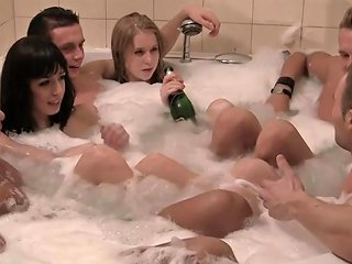 College Amateurs Jacuzzi Fun Turns Into Orgy Free Porn F2