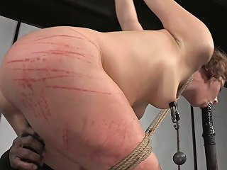 Harcore Whipping And Tease For White Average MILF Lady