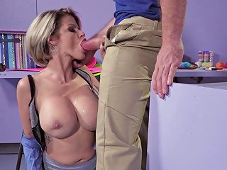 Angry MILF Ends Up Fucking With The Shift Manager