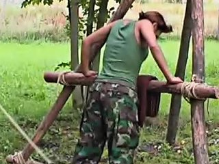 Military Girl Caned As Punishment