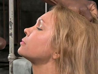 Tightly Tied Bitch Rain Degrey Gets Mouth Fucked By 2 Freaks Hard