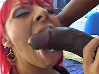 Busty Bitch With Dyed Hair Gets Her Cunt Ripped Apart By Black Stud
