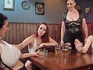 Furious Bitch Bella Rossi And Her Assistants Fuck One Big Tittied Whore
