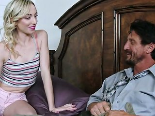Hot Cutie Zoe Parker Catches Bearded Roommate Wanking And Rides His Dick