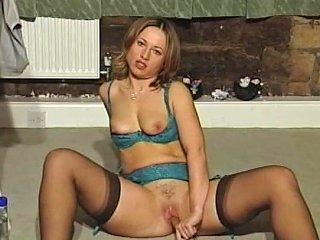 British Sluts Double Dildo Themselves In Various Scenes