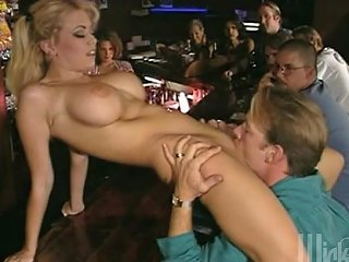 Blonde Horny Slut Fucking Every Guy In The Bar At Once
