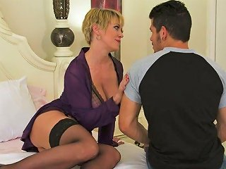 Ample Breasted MILF Dee Williams Seduces Her Stepson And Sucks His Pole