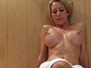 Busty Lezdom Sauna Action With Two Stunners Txxx Com