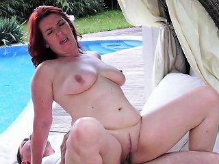 Busty Redhead Gilf Fucked In Outdoor Action Nuvid