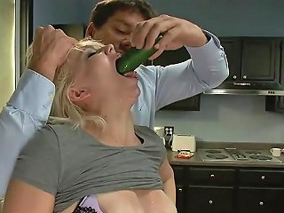 Slutty Blonde Gets Tied Up And Fucked