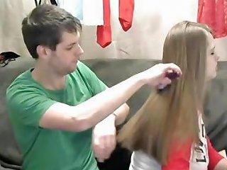 Silky Hair Pulling And Brushing Long Hair Hair Hd Porn 9e