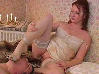 Mature Mistress Facesitting Men's Masturbation Slow