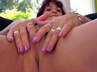 Alluring Gilf Sucks And Fucks In Closeup Porn Ba Xhamster
