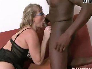 Horny Mom Fits Huge Black Dick In Her Holes