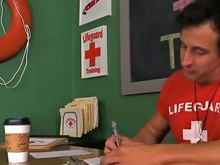 Lifeguard Teaching Girl