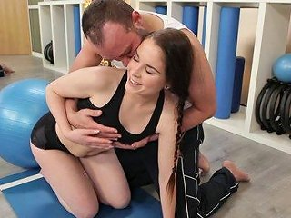 Young Beauty Gets Fucked On Her Private Aerobics Class