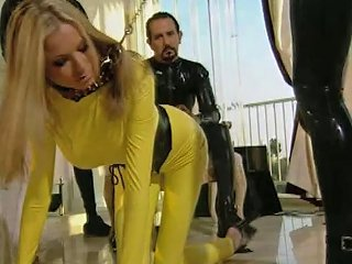 Horny Couple In Latex Costumes Fucking Hardcore In The Parking Lot