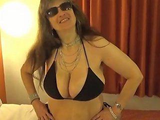 Tinja Busts Out Of A Black String Bikini Txxx Com