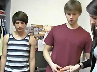 College Boys Strip At A Hot Dorm Room Party