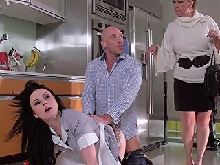 His Maid Is Quite The Whore And Cleans His Hard Cock Well Any Porn