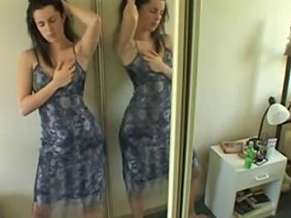 Vanessa Masturbates Standing In Front Of Mirror