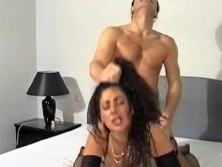 Busty Milf With Big Tits In Hardcore Titjob With Hair Pulling