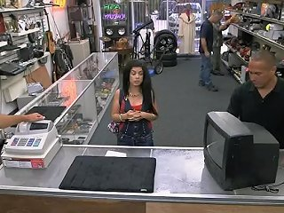 Cuban Babe Drilled By Nasty Pawn Keeper In The Backroom