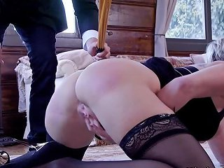 Natural Busty Slave Paddled And Fucked