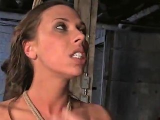 Bound Gagged And Drooling Cunt Gets Brutally Spanked